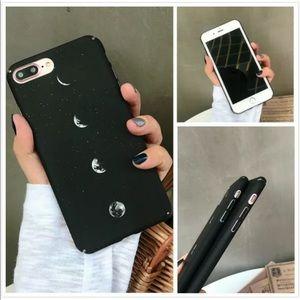 Moon Phase Slim Protective iPhone Case Black